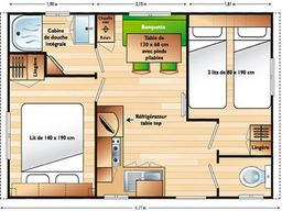 plan des mobil-homes